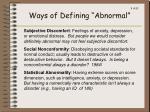 ways of defining abnormal