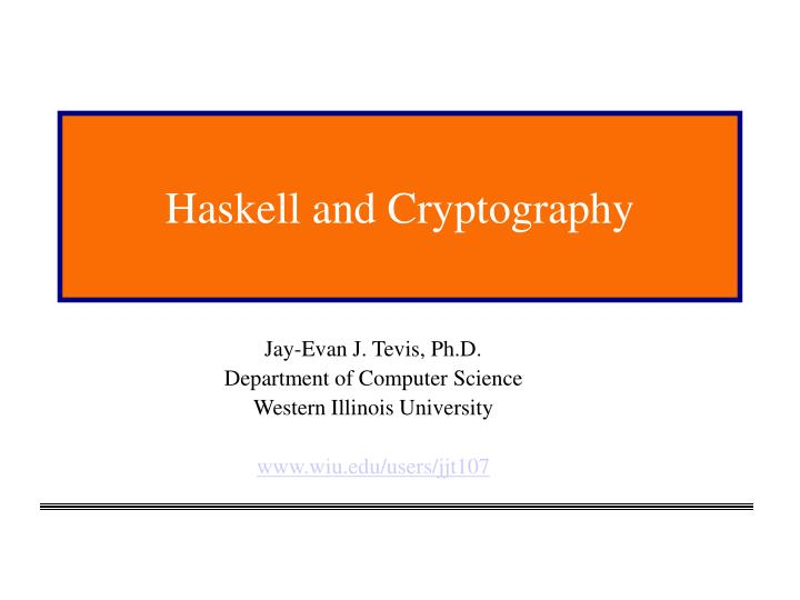 haskell and cryptography n.