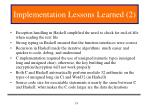 implementation lessons learned 2