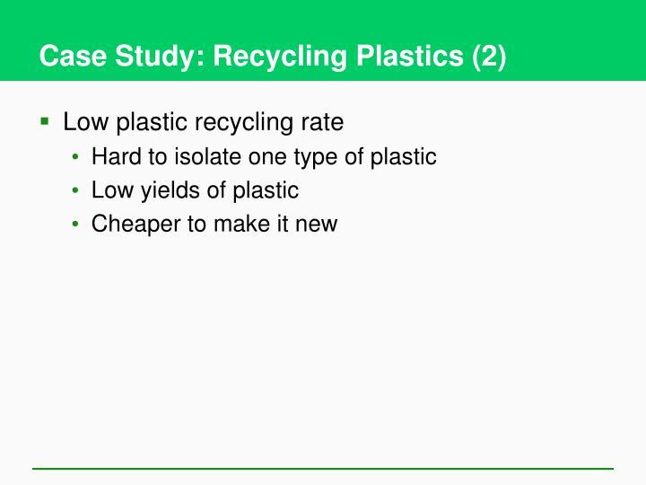 Case Study: Recycling Plastics (2)