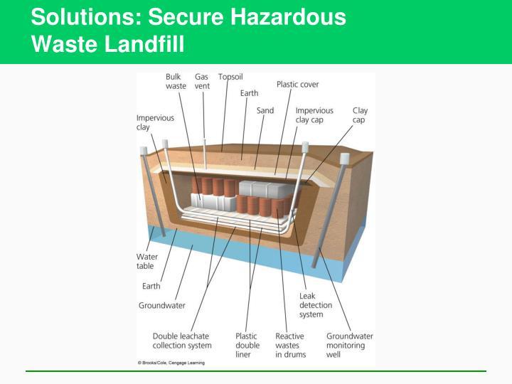 Solutions: Secure Hazardous