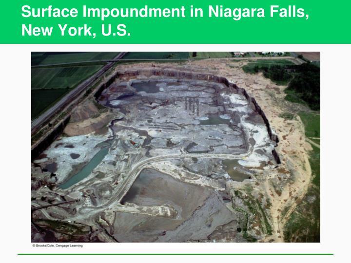 Surface Impoundment in Niagara Falls, New York, U.S.