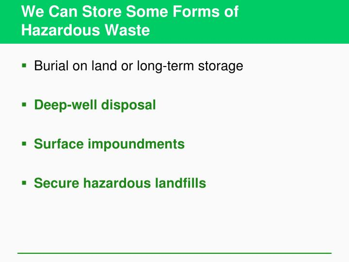 We Can Store Some Forms of