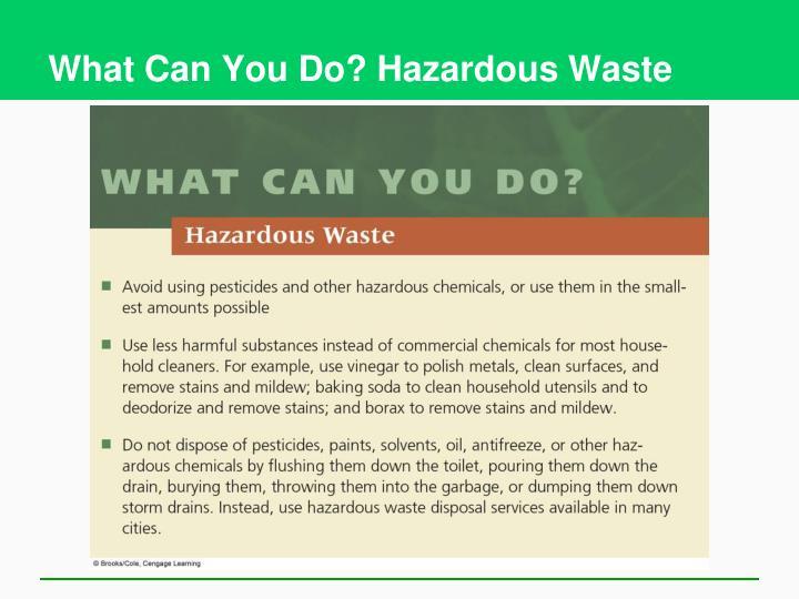 What Can You Do? Hazardous Waste