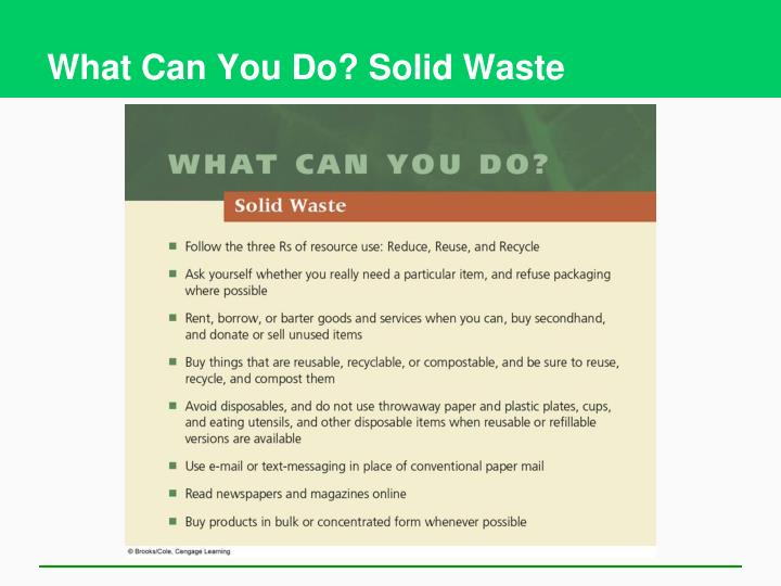 What Can You Do? Solid Waste