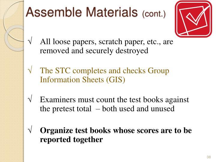 Assemble Materials