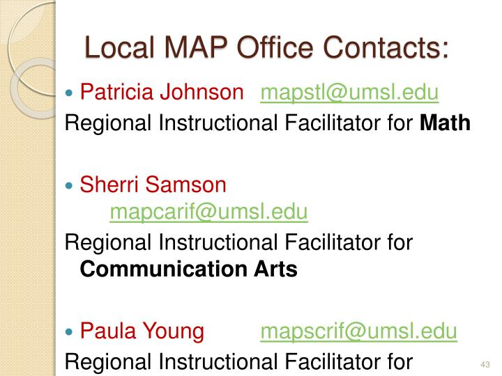 Local MAP Office Contacts:
