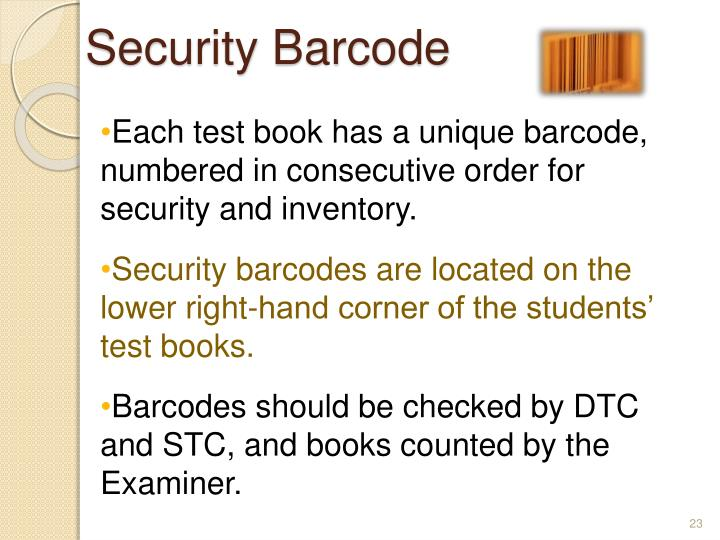 Security Barcode