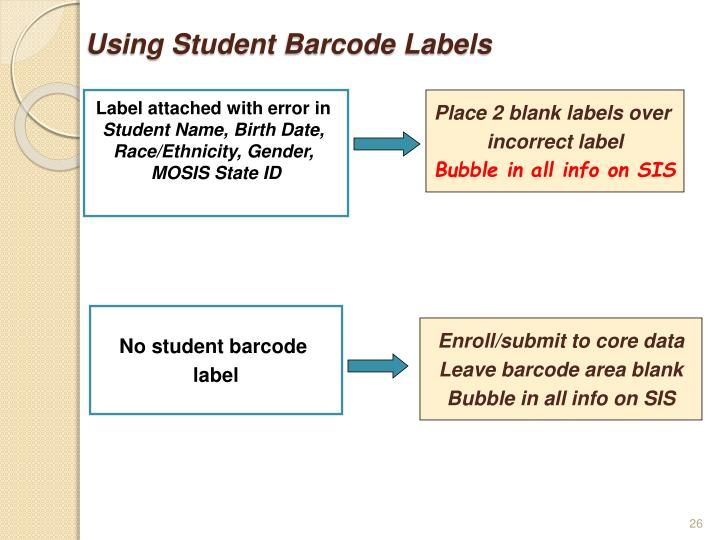 Using Student Barcode Labels