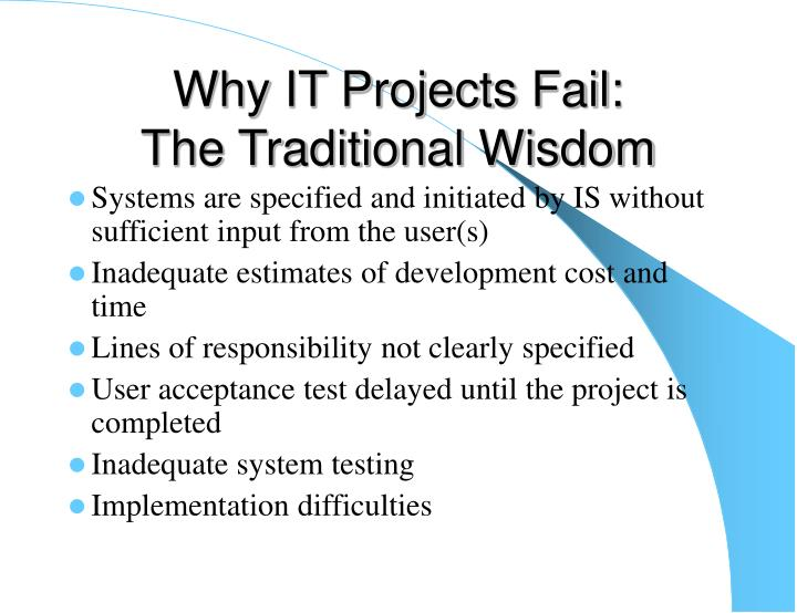 Why IT Projects Fail: