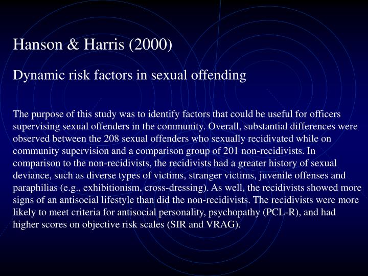 Hanson & Harris (2000)
