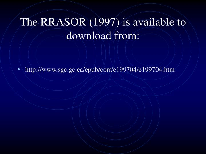 The RRASOR (1997) is available to download from: