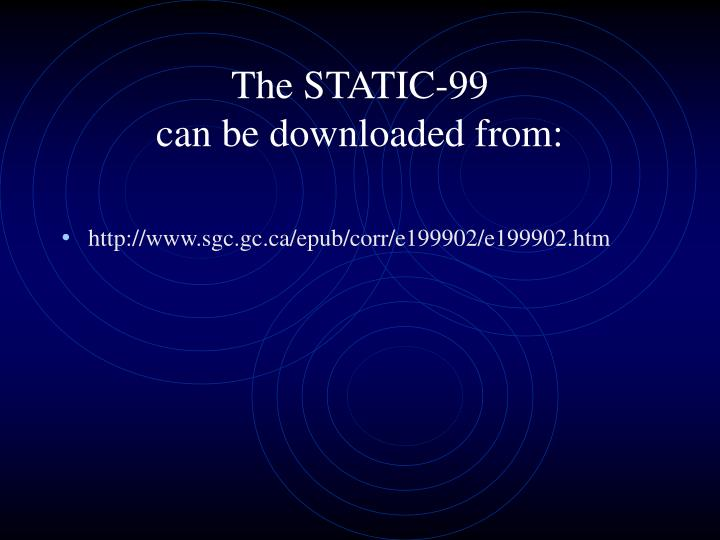 The STATIC-99