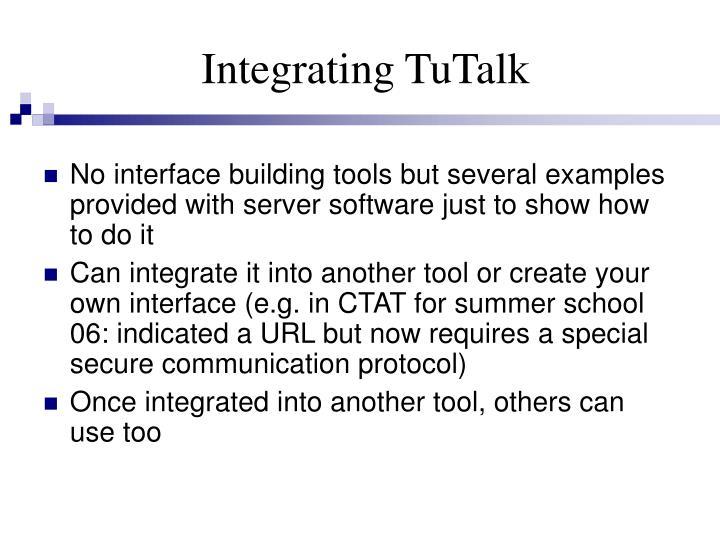 Integrating TuTalk