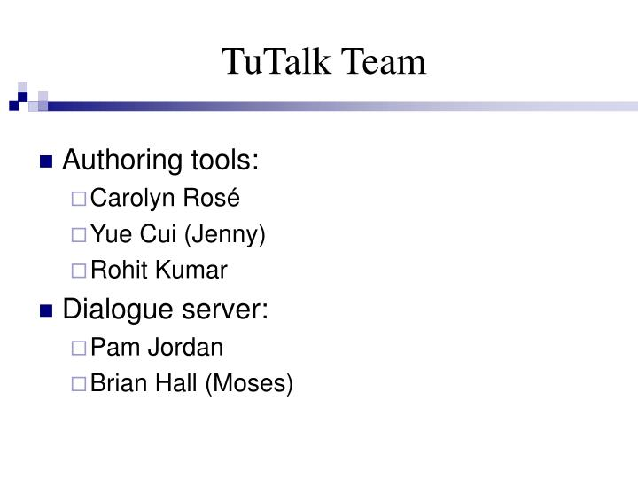 TuTalk Team