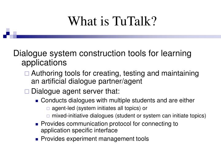 What is TuTalk?