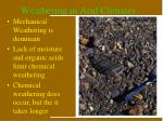 weathering in arid climates