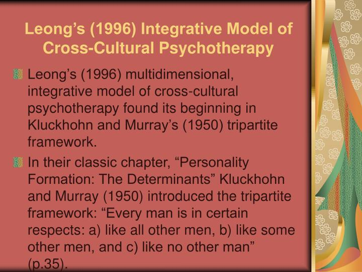 Leong's (1996) Integrative Model of Cross-Cultural Psychotherapy