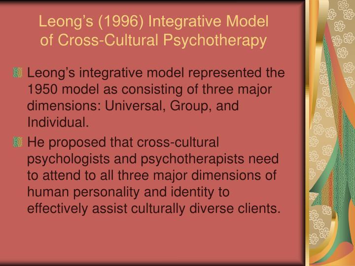 Leong's (1996) Integrative Model