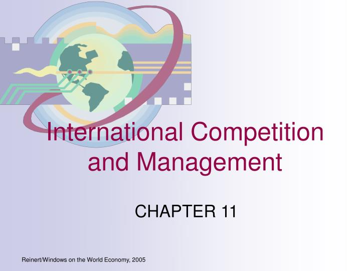 International competition and management