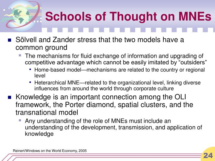 Schools of Thought on MNEs