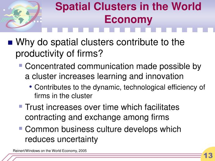 Spatial Clusters in the World Economy