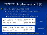 pdwtm implementation i 2