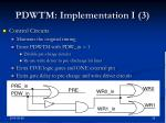 pdwtm implementation i 3