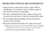 problems with eh measurements