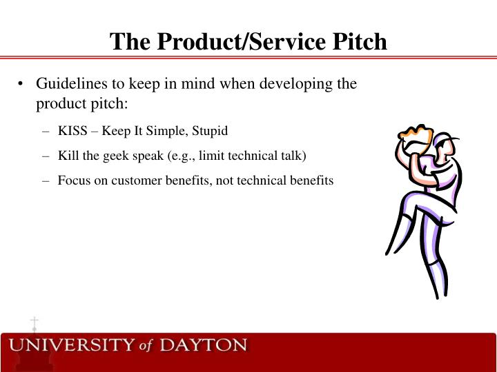 The Product/Service Pitch