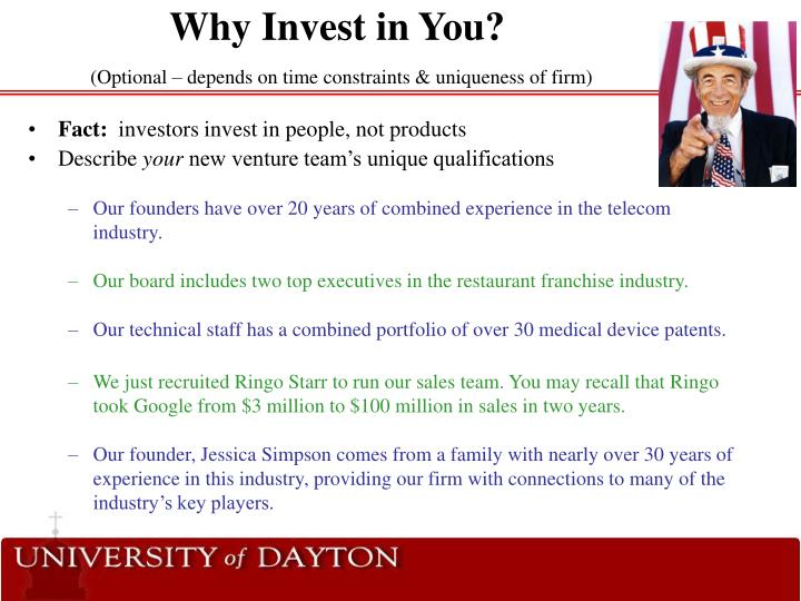Why Invest in You?