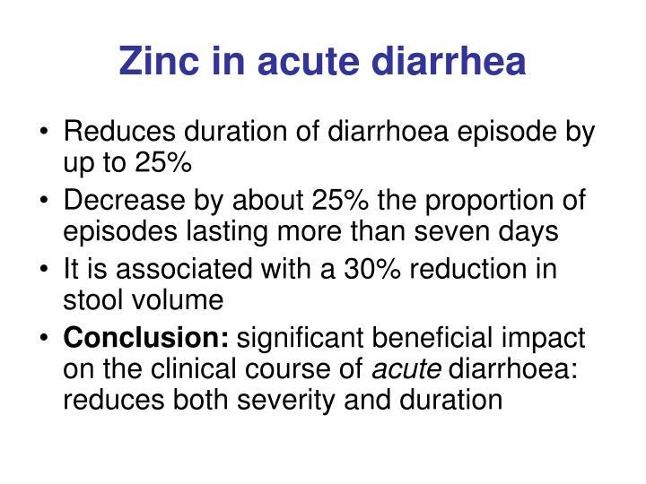 Zinc in acute diarrhea