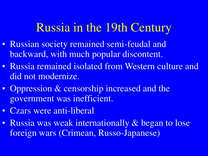 russia in the 19th century n.