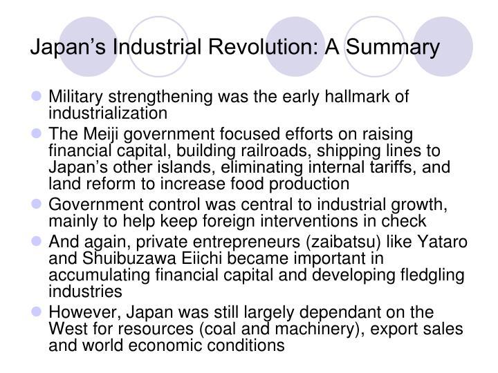 Japan's Industrial Revolution: A Summary