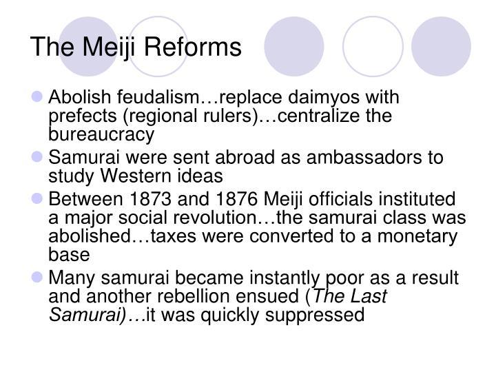 The Meiji Reforms