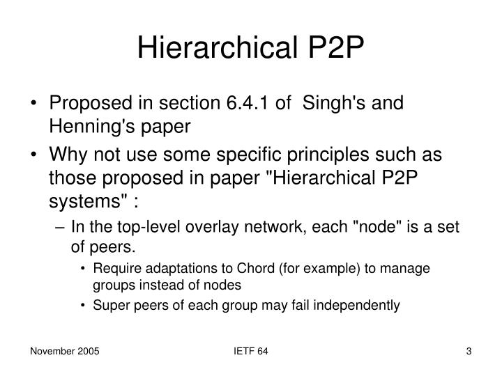 Hierarchical P2P