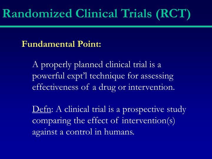 Randomized clinical trials rct1