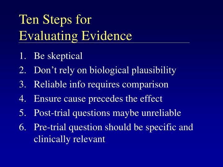 Ten Steps for