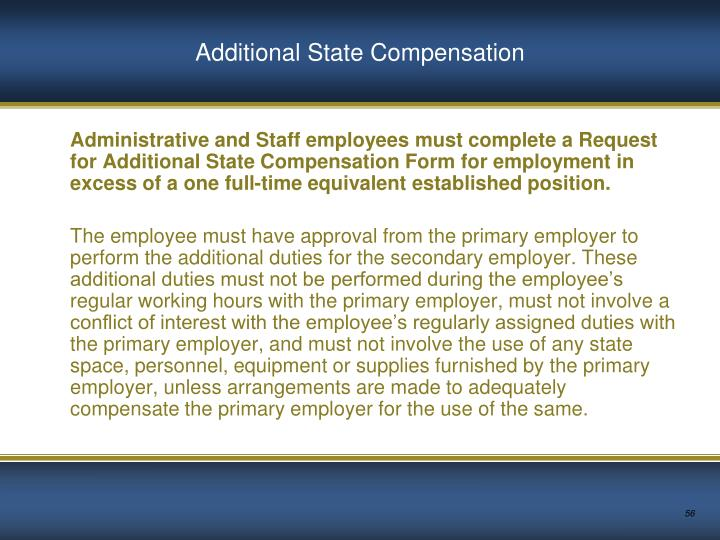 Additional State Compensation