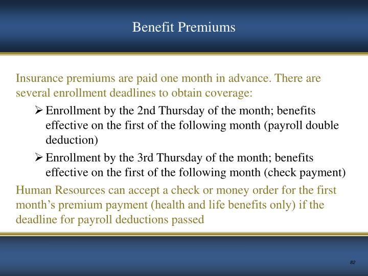 Benefit Premiums