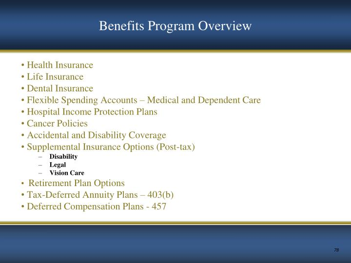 Benefits Program Overview