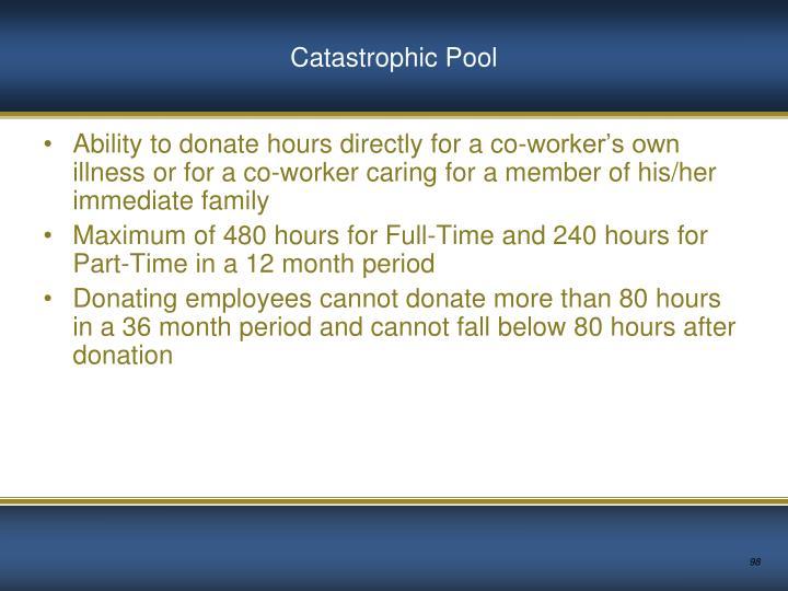 Catastrophic Pool