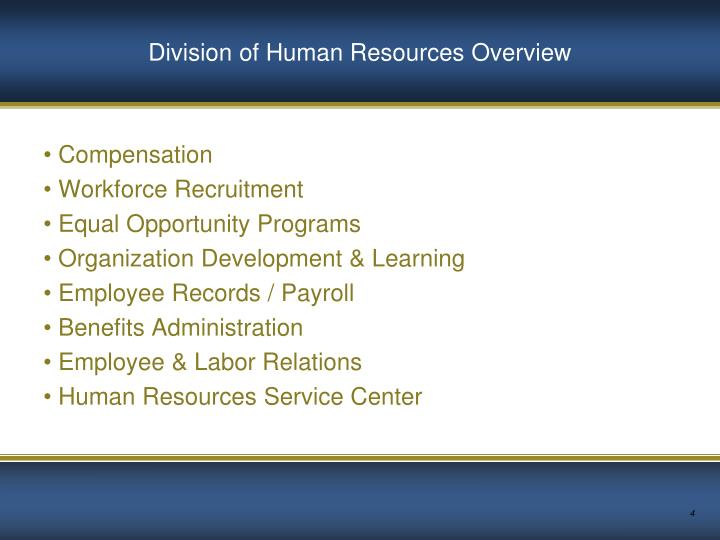 Division of Human Resources Overview