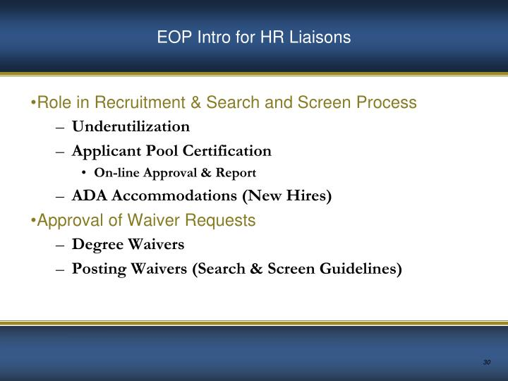 EOP Intro for HR Liaisons