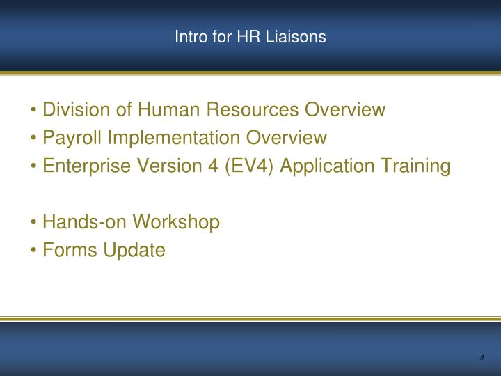 Intro for hr liaisons