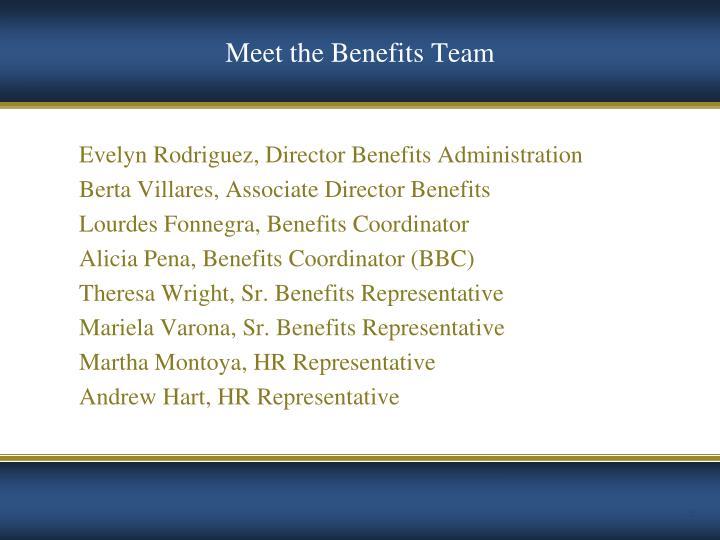 Meet the Benefits Team