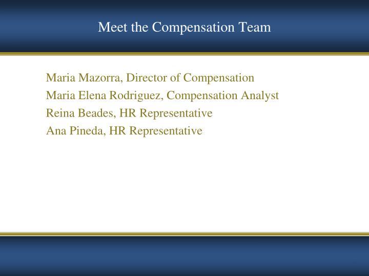 Meet the Compensation Team