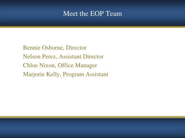 Meet the EOP Team