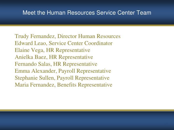 Trudy Fernandez, Director Human Resources