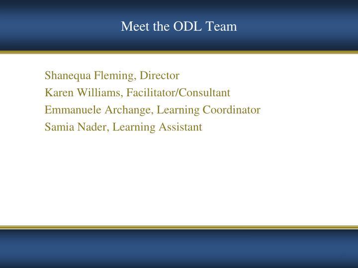 Meet the ODL Team